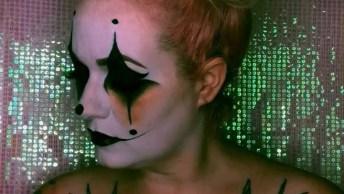 Ideia De Maquiagem Para Halloween, Mais Um Apara Guardar Na Pasta De Favoritos!