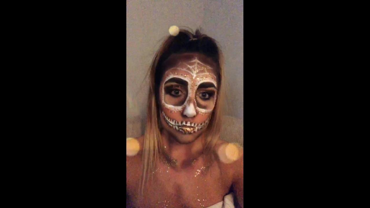 Ideia de maquiagem para Halloween