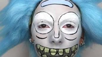 Ideia De Maquiagem Para Halloween, Olha Só Que Legal Este Trabalho!