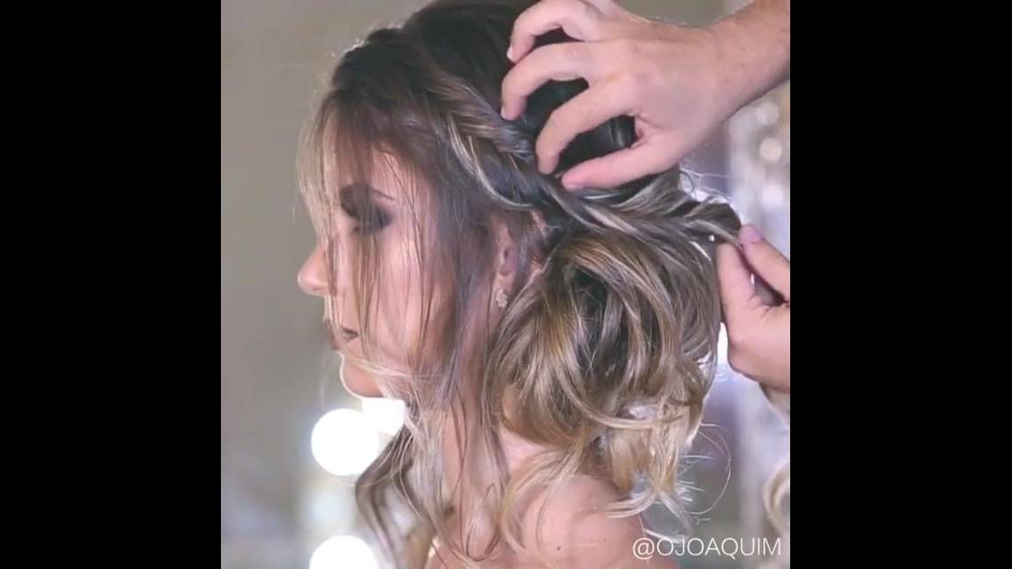 Ideia de penteado maravilhoso para noiva
