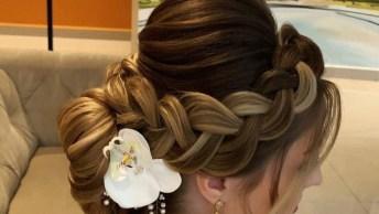 Ideia De Penteado Para Noiva, É Uma Linda Opção Para Quem Quer Cabelo Preso!