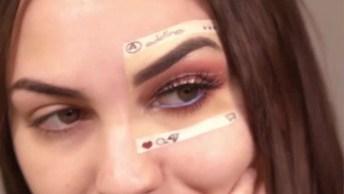 Ideia Diferente Para Fazer Uma Maquiagem No Olho, Você Vai Adorar!
