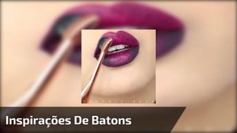 Ideias Para Fazer Nos Lábios Com Batom E Sombra, Confira!