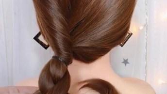 Ideias Variadas De Penteados Para Você Aprender, É Mais Um Vídeo Incrível!