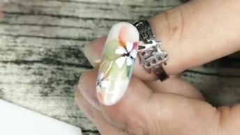 Inspiração De Decoração De Unha, Veja Que Lindos Desenhos Feito A Mão!