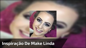 Inspiração De Make Para Formandas Com Sombra Lilás Com Glitter, Olha Que Linda!