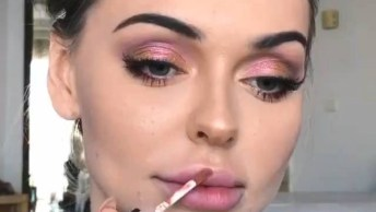 Inspiração De Maquiagem, Além De Ser Super Básica É Muito Delicada!