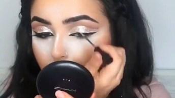 Inspiração De Maquiagem Com Olhos Bem Marcados E Batom Vermelho!