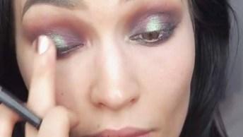 Inspiração De Maquiagem Com Sobra Marrom Opaca, E Sombra Verde Metálica!