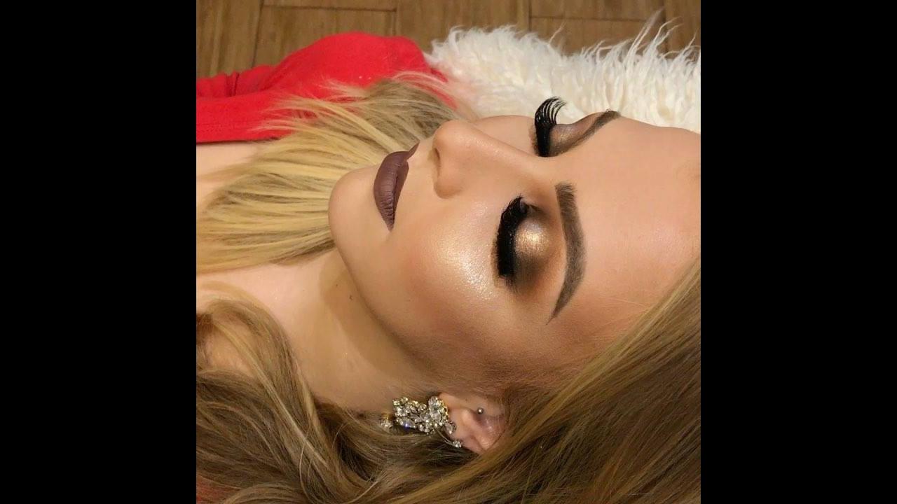 Inspiração de maquiagem com sombra cobre e esfumado marrom