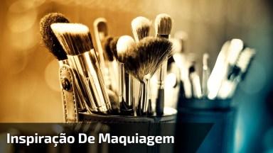 Inspiração De Maquiagem Com Sombra Metálica De Cor Metálica, E Sombra Azul!