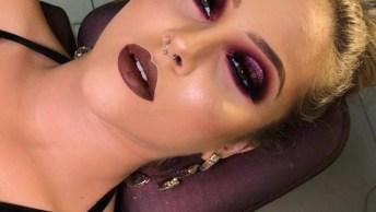 Inspiração De Maquiagem Com Sombra Roa Para Formatura, Veja Que Linda!