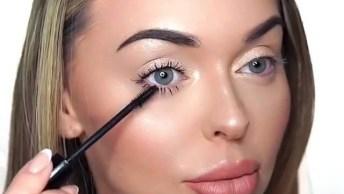 Inspiração De Maquiagem Linda, E Veja Este Rímel Que Maravilhoso!