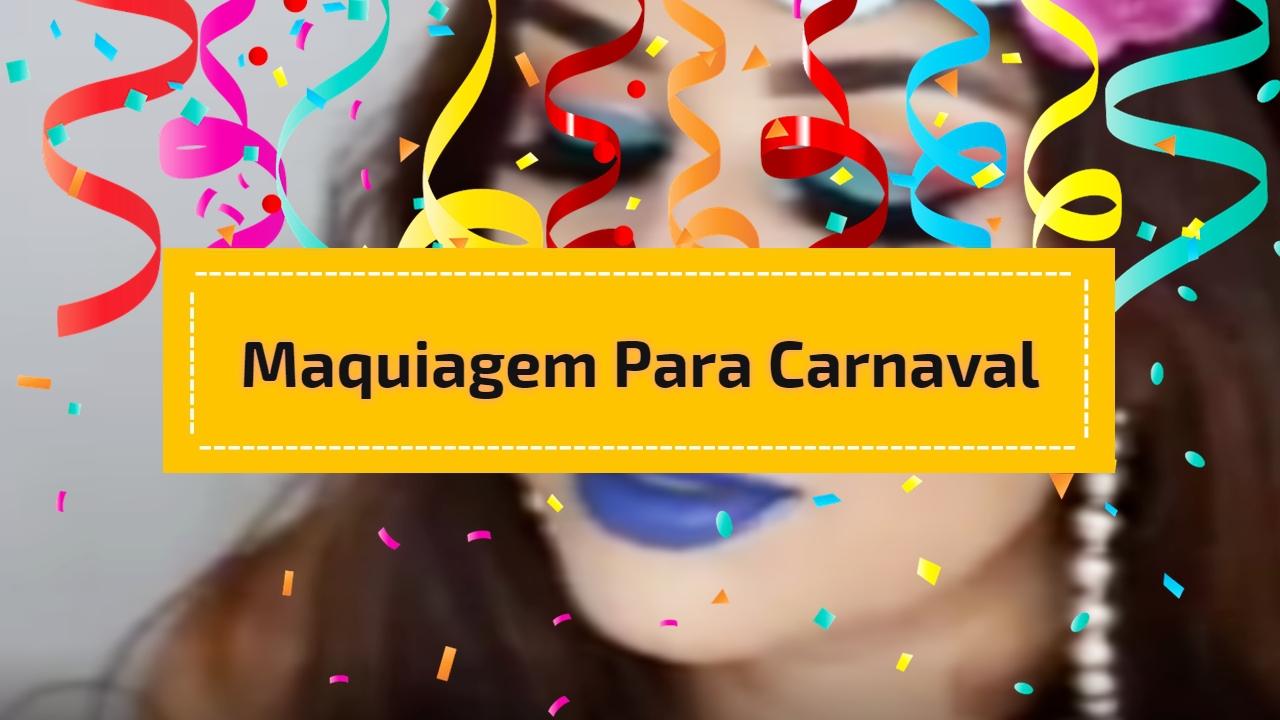 Inspiração de maquiagem para carnaval com sombra e batom azul!!!