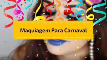 Inspiração De Maquiagem Para Carnaval Com Sombra E Batom Azul!
