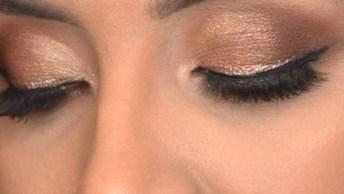 Inspiração De Maquiagem Para Dia A Dia Com Sombra Com Pouco Brilho!