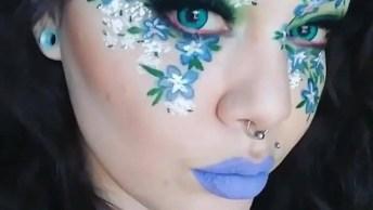 Inspiração De Maquiagem Para Festas Á Fantasia, Olha Só Que Lindas Flores!