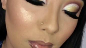 Inspiração De Maquiagem Para Festas, Olha Esta Sombra Que Perfeita!