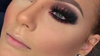 Inspiração De Maquiagem Para Formanda Com Sombra Cobre Com Esfumado Preto!