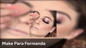 Inspiração De Maquiagem Para Formanda Com Sombra Metálica Marrom!