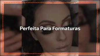 Inspiração De Maquiagem Para Formandas, Veja Esta Sombra Cheia De Brilho!
