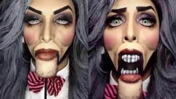 Inspiração De Maquiagem Para Halloween, Veja Que Hilário Essa Make!