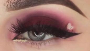 Inspiração De Maquiagem Para Os Olhos Com Detalhe De Coração!