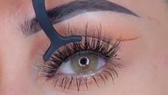 Inspiração De Maquiagem Para Os Olhos, Olha Só Que Detalhe Lindo!