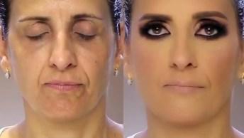 Inspiração De Maquiagem Para Pele Madura, O Antes E Depois É Maravilhoso!