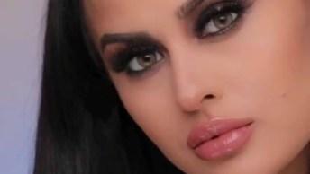 Inspiração De Maquiagem Sombra Marrom Com Olhos Bem Marcados!