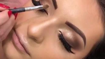 Inspiração De Olho Com Sombra Marrom Com Esfumado Preto, O Cumulo Da Perfeição!