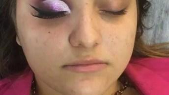 Inspiração De Olho Trabalhado Com Sombra Lilás, Com Esfumado Marrom!