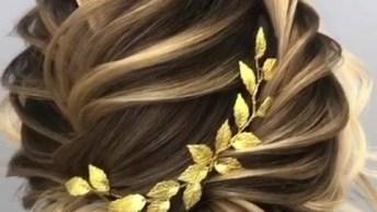 Inspiração De Penteado Glamouroso Para Noivas, Veja Que Maravilhoso!