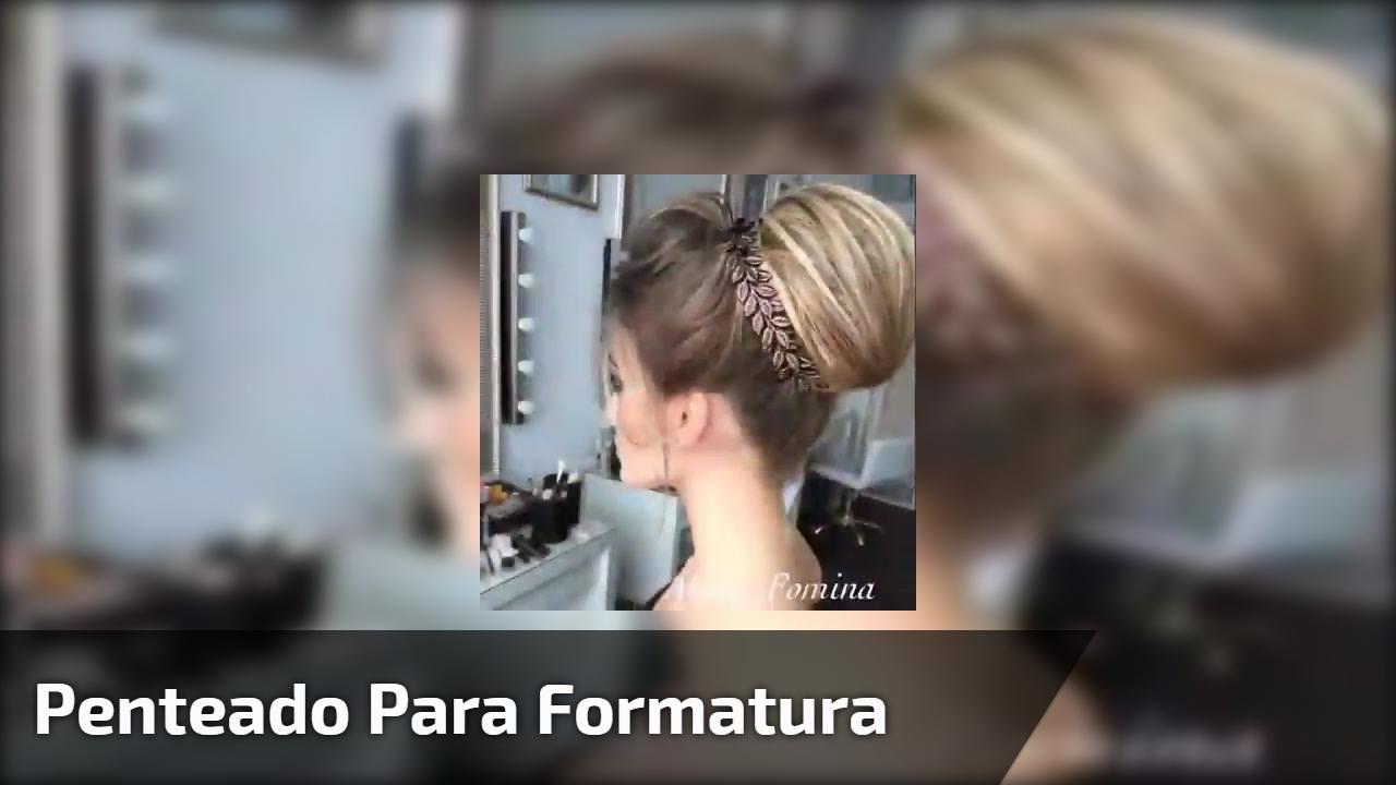 Inspiração de penteado para formatura, veja que lindo coque com topete!!!