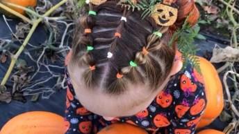 Inspiração De Penteado Para Halloween Para Garotinhas, Veja Que Lindo!