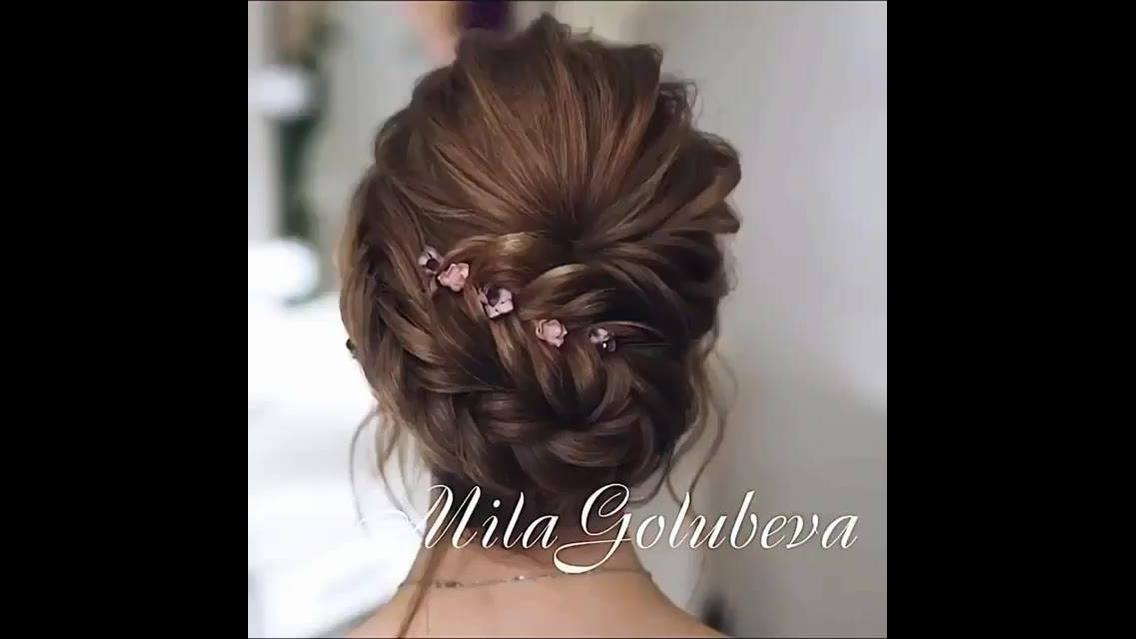 Inspiração de penteado para noiva com trança lateral e coque!!!