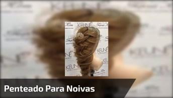 Inspiração De Penteado Para Noivas De Cabelos Longos, Olha Só Que Lindo!