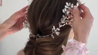 Inspiração De Penteado Para Noivas, Veja Como Ele É Lindo E Delicado!