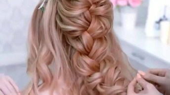 Inspiração De Penteado Para Noivas, Veja Que Delicadeza De Penteado!