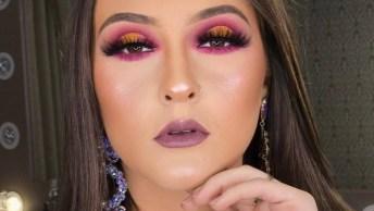 Inspiração De Sombra Amarela Com Esfumado Rosa, Uma Belíssima Combinação!