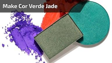 Inspiração De Sombra Na Cor Verde Jade, E Esfumado Marrom!