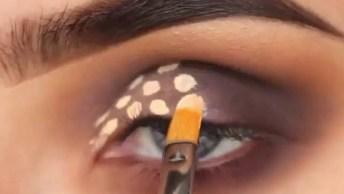 Inspiração De Sombra Par Os Olhos Na Cor Lilas E Dourado Mais Claro!