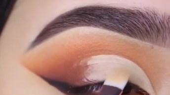 Inspiração De Sombra Para Os Olhos Marrom Com Delineado Preto!