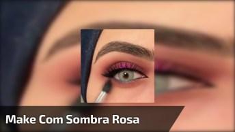Inspiração De Sombra Para Os Olhos Na Cor Rosa, Você Vai Se Apaixonar!