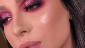 Inspiração De Sombra Rosa Com Glitter, Vídeo Curtinho, Confira!