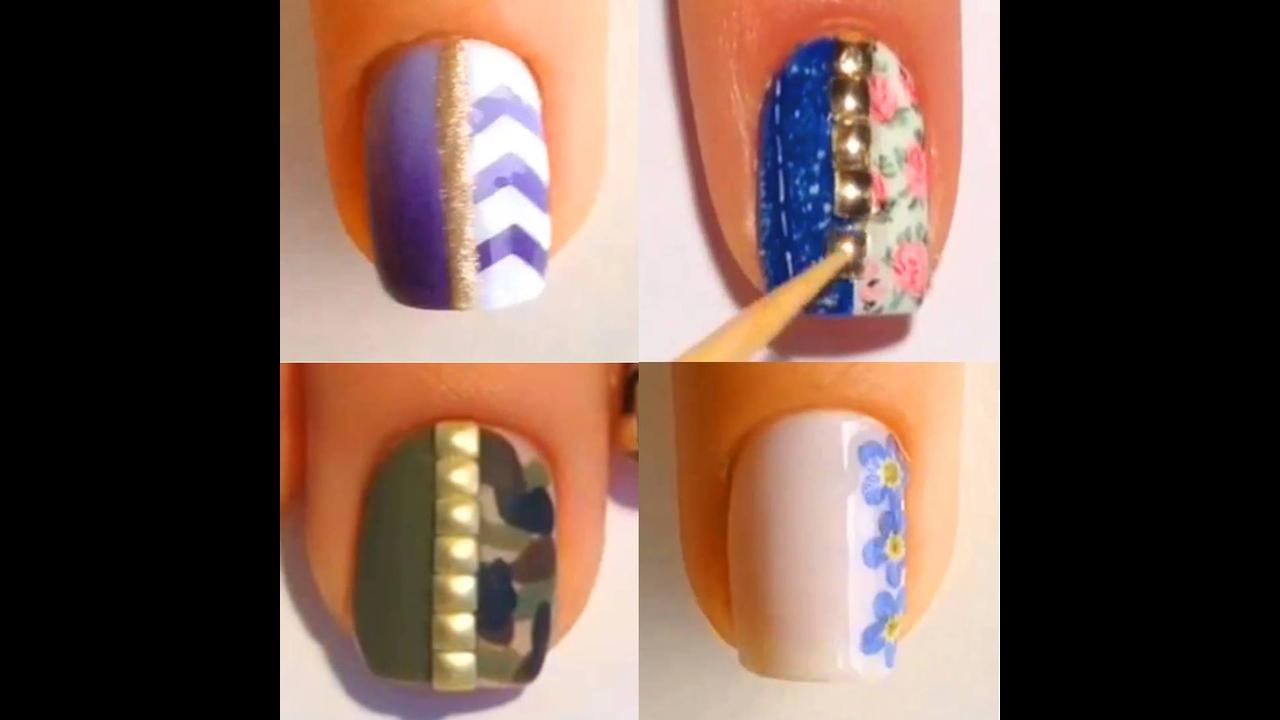 Inspiração de unhas decoradas com vários desenhos lindos