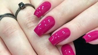 Inspiração Do Dia, Unhas Pink, Olha Só Que Cor Maravilhosa De Esmalte!