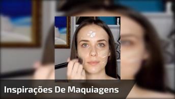 Inspirações De Maquiagem Com Cores De Sombras Diferente, É Só Escolher!