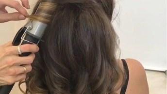 Inspirações De Penteados Com Cabelos Enrolados E Soltos, Simplesmente Lindos!