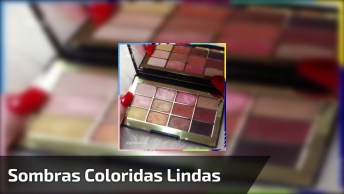 Inspirações De Sombras Coloridas Para Te Inspirar, Veja Como São Lindas!